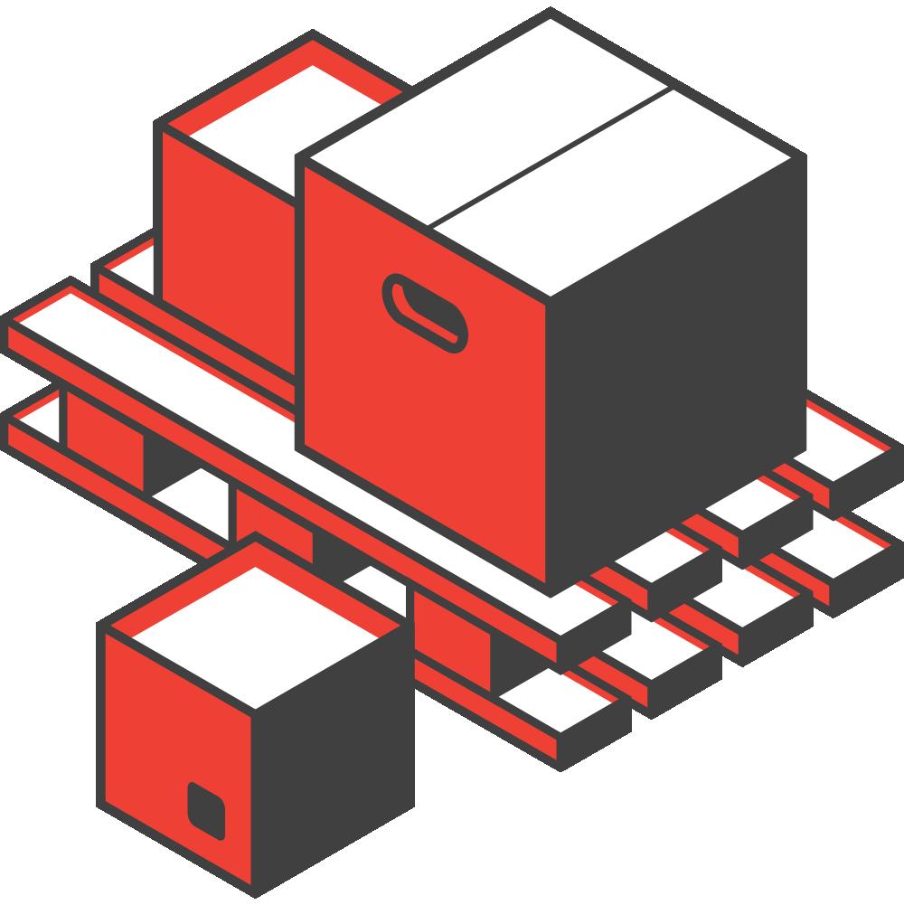 Logistics Management - warehouse space icon