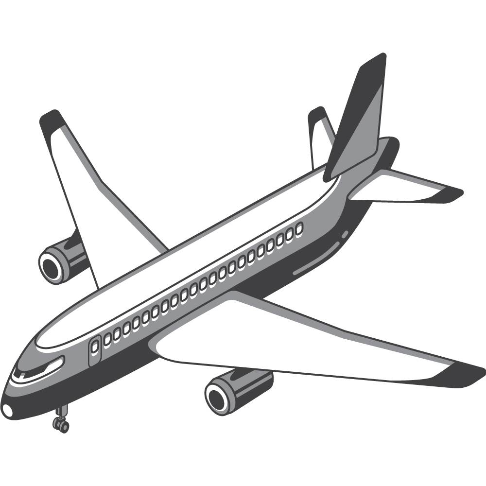 Logistics Management - airplace icon
